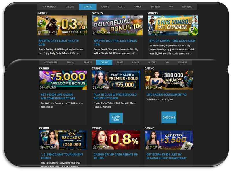 Pot of Overflowing Golds from W88 Promotions - Casino and Sports Betting