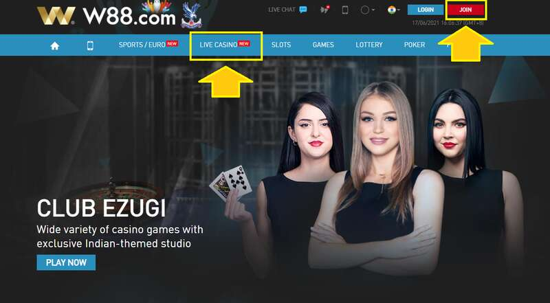 How to Play Baccarat Online in W88