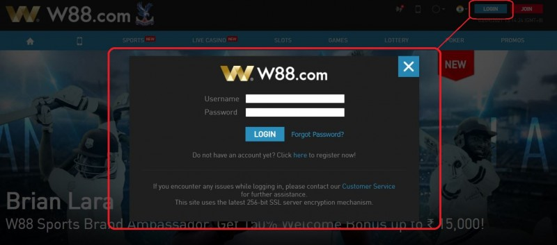 How to Login with Link W88 2021 - Login Page